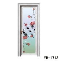 裕豪门业重型铝合金平开门1.4厚 双层中空玻璃门卫生间厨房隔断门