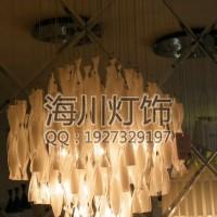 工厂定制台湾玻璃水晶吊灯 现代玻璃片吊灯