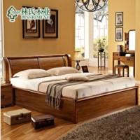 晚安实木床 ,布艺沙发床1