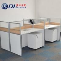 贵阳现代简约办公家具四人组合办公桌屏风隔断工作位卡位职员员工