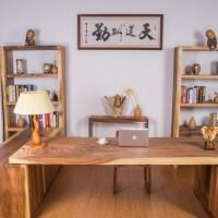 胡桃木烘干实木大板老板办公桌会议桌电脑桌红木家具实木大板