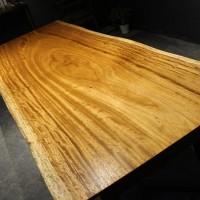 乌金木合金欢实木北欧美式工业风设计师办公桌书桌吧台无拼接家具
