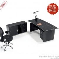 上海办公家具批发马鞍皮老板桌豪华欧式时尚经理桌办公桌