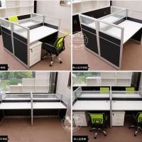 广东办公家具职员办公桌简约屏风办公桌办公4人位屏风隔断桌椅