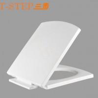 三步马桶配件加厚耐用缓降静音PP塑料马桶坐便器盖板方形S-G