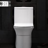 陶瓷洁具生产 新款抽水马桶座便器 威迪亚水件连体坐便器特价