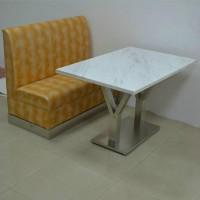 众美德大理石餐桌01快餐厅大理石餐桌,贴纸大理石桌子,餐厅餐桌定制厂家