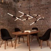 Roll Hill后现代铁艺创意艺术北欧餐厅客厅别墅树杈吊灯直销