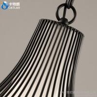 新中式铁艺餐厅灯笼灯仿古酒店茶楼复古工程装饰个性现代鸟笼吊灯