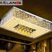 澜阁现代简约时尚led水晶灯客厅灯吸顶灯长方形卧室书房灯具灯