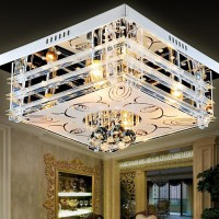飞标照明/LED水晶吸顶灯/客厅现代简约水晶灯/ 卧室灯具/