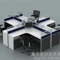 168款玻璃办公屏风桌,江北屏风桌,鼎派家具