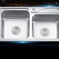 澳瑞卡8242-H边家用不锈钢水槽 不锈钢拉伸水槽