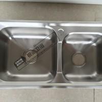304水槽加厚7640不锈钢沥水槽 双水槽套装 出口水槽 水