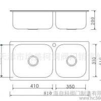 天津埃美柯 XD-212不锈钢304水槽 厨房双槽 洗菜盆8